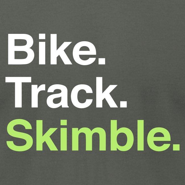 Bike. Track. Skimble. Men's Tee