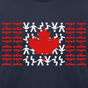 Navy Canadian Skydiving Flag T-Shirts - Men's T-Shirt by American Apparel