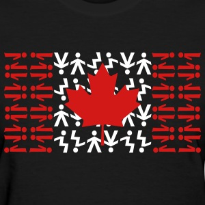 Black Canadian Skydiving Flag Women's T-Shirts - Women's T-Shirt