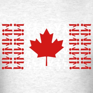 Light oxford Canadian Skydiving Flag T-Shirts - Men's T-Shirt