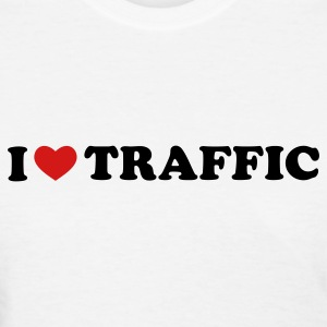 White I Love Traffic Women's T-Shirts - Women's T-Shirt