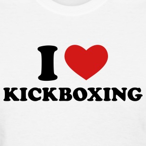 White I Love Kickboxing Women's T-Shirts - Women's T-Shirt