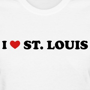 White I Love St. Louis Women's T-Shirts - Women's T-Shirt