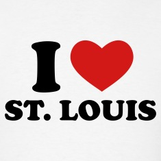 White I Love St. Louis T-Shirts