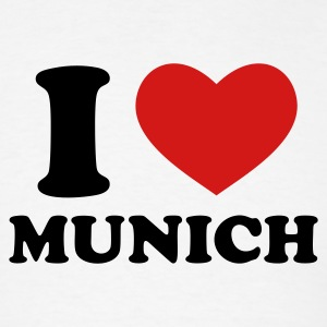 White I Love Munich T-Shirts - Men's T-Shirt