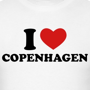 White I Love Copenhagen T-Shirts - Men's T-Shirt