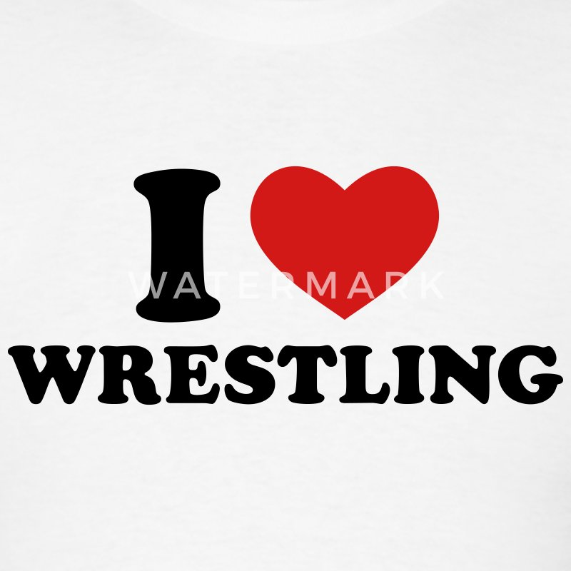 White I Love Wrestling T-Shirts - Men's T-Shirt