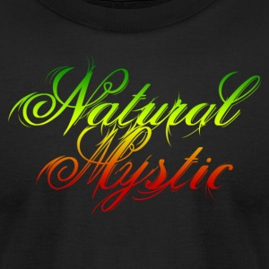 Black Natural Mystic T-Shirts - Men's T-Shirt by American Apparel