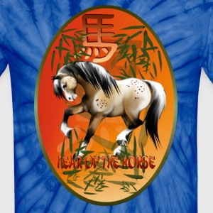 Year Of The Horse Oval - Unisex Tie Dye T-Shirt