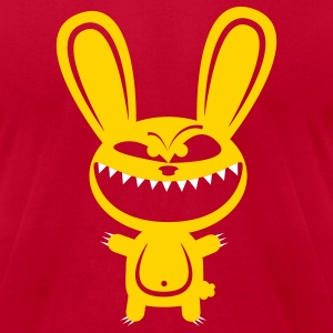 Orange Rabbid Lunatic Monster T-Shirts - Men's T-Shirt by American Apparel
