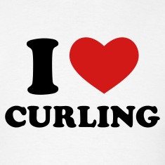 White I Love Curling T-Shirts