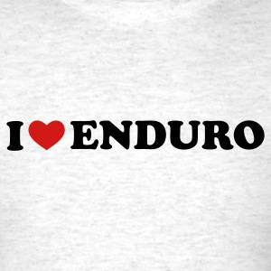 Light oxford I Love Enduro T-Shirts - Men's T-Shirt