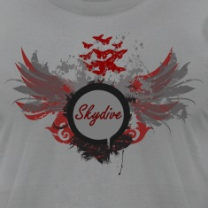 Slate Skydive With Wings T-Shirts