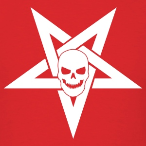 Red Pentagram with Skull 1 T-Shirts - Men's T-Shirt