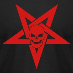 Black Pentagram with Skull 1 T-Shirts