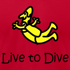 Orange Live To Dive T-Shirts - Men's T-Shirt by American Apparel