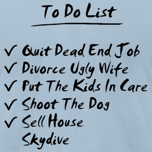 Light blue His To Do List T-Shirts - Men's T-Shirt by American Apparel