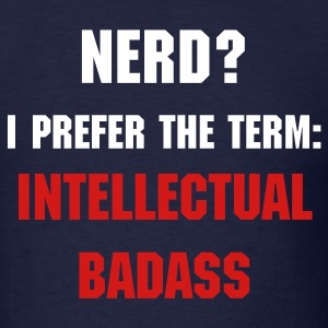 Intellectual Badass (with Logo on back) - Men's T-Shirt
