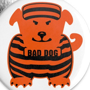 White bad dog (2c) Buttons - Large Buttons