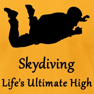 Gold Skydiving Life's Ultimate High T-Shirts - Men's T-Shirt by American Apparel