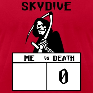 Red Skydive Me vs Death T-Shirts - Men's T-Shirt by American Apparel