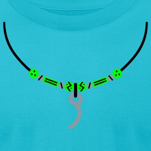 Turquoise Closing Pin Necklace T-Shirts - Men's T-Shirt by American Apparel