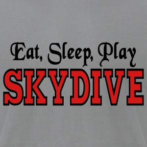 Slate Eat Sleep Play Skydive T-Shirts - Men's T-Shirt by American Apparel