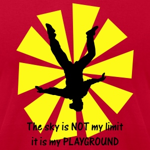 Red The Sky Is Not My Limit It Is My Playground T-Shirts - Men's T-Shirt by American Apparel