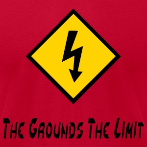 Orange The Grounds The Limit T-Shirts - Men's T-Shirt by American Apparel