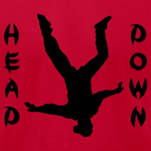 Red Head Down T-Shirts - Men's T-Shirt by American Apparel