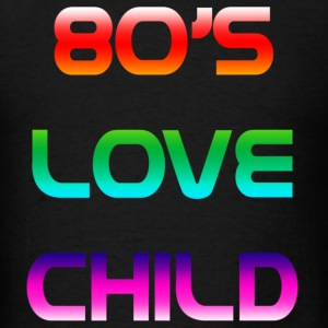 Black 80's love child T-Shirts - Men's T-Shirt