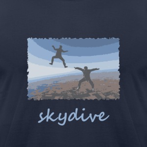 Navy Skydive Sitflyers T-Shirts - Men's T-Shirt by American Apparel