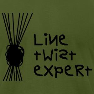 Olive Line Twist Expert T-Shirts - Men's T-Shirt by American Apparel