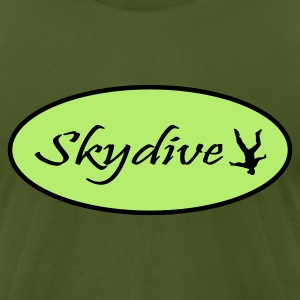 Olive Skydive T-Shirts - Men's T-Shirt by American Apparel