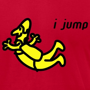 Red I Jump T-Shirts - Men's T-Shirt by American Apparel