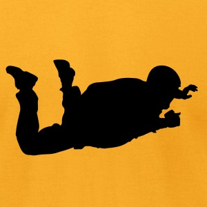 Gold Skydiver T-Shirts - Men's T-Shirt by American Apparel