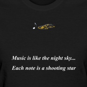 Black musicshootingstar Women's T-Shirts - Women's T-Shirt