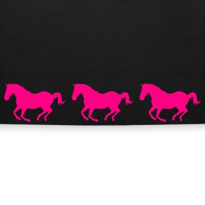 Black Three Horses Galloping Bags  - Eco-Friendly Cotton Tote