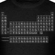 Black Periodic Table of Elements T-Shirts