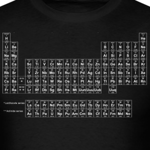 Black Periodic Table of Elements T-Shirts - Men's T-Shirt