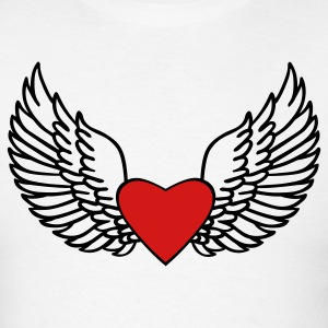 Heart and Wings - Men's T-Shirt