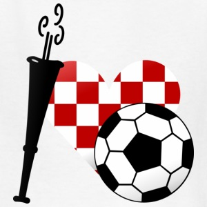 White I heart Croatian soccer (DDP) Kids' Shirts - Kids' T-Shirt