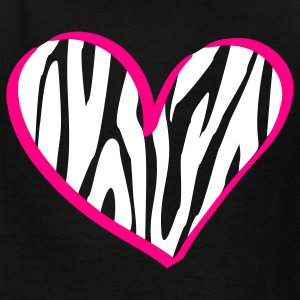 Black zebra heart Kids' Shirts - Kids' T-Shirt