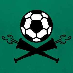 Kelly green soccer vuvuzela pirates (2c) T-Shirts - Men's T-Shirt by American Apparel