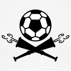 Green/white soccer vuvuzela pirates (2c) T-Shirts - Men's Ringer T-Shirt
