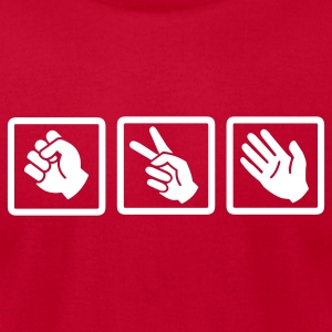 Red rock paper scissors v2 T-Shirts - Men's T-Shirt by American Apparel