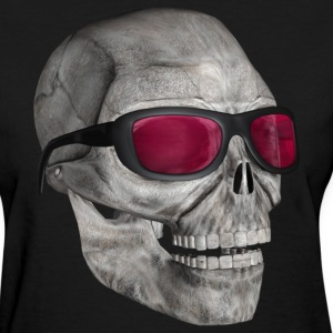 Black skull with sunglasses 3000 (DD) Women's T-Shirts - Women's T-Shirt