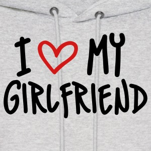 Ash  I Love My Girlfriend Hoodies - Men's Hoodie