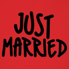 Red Just Married T-Shirts