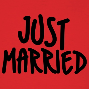 Red Just Married T-Shirts - Men's T-Shirt